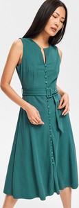 Sukienka Reserved midi szmizjerka w stylu casual