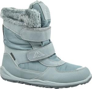 Niebieskie buty dziecięce zimowe Kappa na rzepy