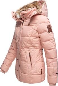 Różowa kurtka Marikoo w stylu casual krótka