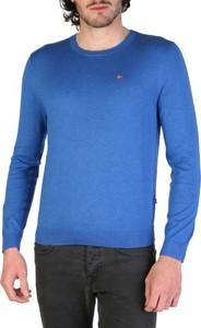 Niebieski sweter Napapijri z bawełny w stylu casual