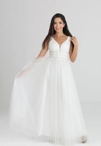 Sukienka Butik Ecru z dekoltem w kształcie litery v maxi