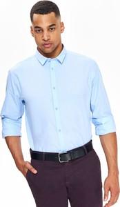 Niebieska koszula Top Secret w stylu casual z długim rękawem
