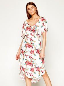 Sukienka Roxy z krótkim rękawem w stylu boho
