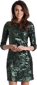 Sukienka Ivon mini z okrągłym dekoltem