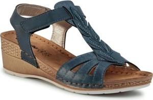 Granatowe sandały Inblu
