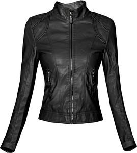 Czarna kurtka Elegrina w rockowym stylu krótka