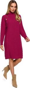 Sukienka MOE z golfem midi z długim rękawem