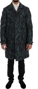 Niebieski płaszcz męski Dolce & Gabbana z bawełny