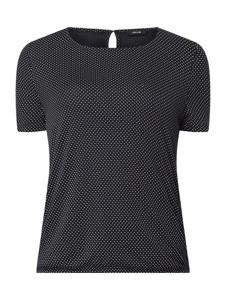 Granatowa bluzka Opus z krótkim rękawem w stylu casual