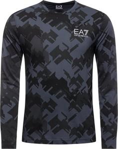 Granatowa koszulka z długim rękawem EA7 Emporio Armani