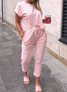 Różowy dres Sandbella