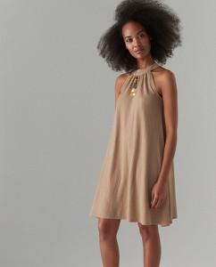 Sukienka Mohito z dekoltem halter mini bez rękawów