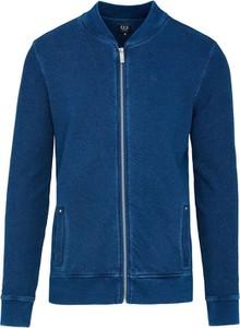 Niebieska bluza Lavard z bawełny w stylu casual