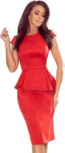 Czerwona sukienka Moda Dla Ciebie baskinka