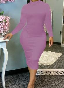 Różowa sukienka Cikelly ołówkowa