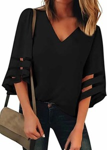 Bluzka Cikelly w stylu casual z długim rękawem