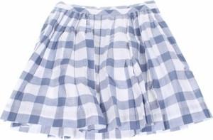 Niebieska spódniczka dziewczęca Cyrillus w krateczkę