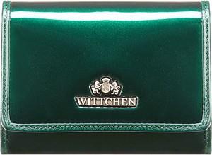 Zielony portfel wittchen ze skóry