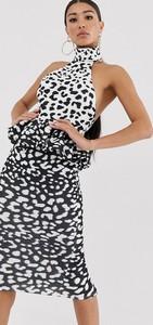 Sukienka Asos bez rękawów z dekoltem halter midi