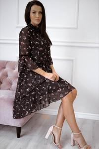 Sukienka Rose Boutique w stylu casual midi z długim rękawem
