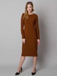 Sukienka Willsoor midi z okrągłym dekoltem w stylu casual