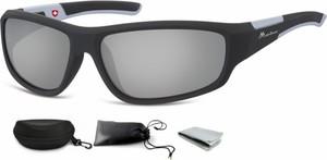 Stylion Okulary dziecięce sportowe Unisex lustrzane czarne matowe CS91C