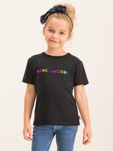 Czarna koszulka dziecięca Little Marc Jacobs z krótkim rękawem