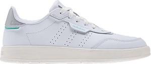 Buty sportowe Adidas w sportowym stylu z płaską podeszwą ze skóry