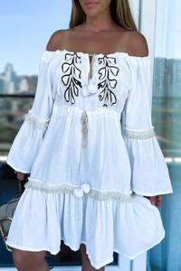 Sukienka IVET z długim rękawem mini hiszpanka