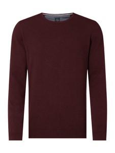 Czerwony sweter S.Oliver Red Label z okrągłym dekoltem z bawełny w stylu casual