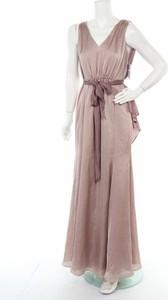Różowa sukienka BIAGGINI bez rękawów maxi