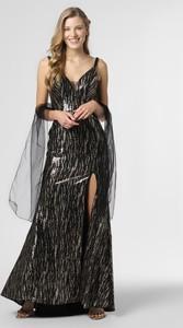 Brązowa sukienka Unique z dekoltem w kształcie litery v