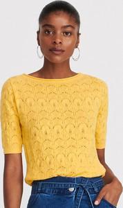 Żółta bluzka Reserved z krótkim rękawem