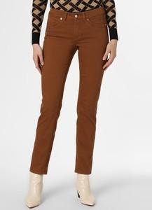 Brązowe spodnie MAC w stylu casual z jeansu
