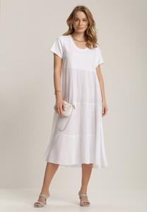 Sukienka Renee oversize midi z krótkim rękawem