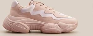 Różowe buty sportowe Reserved sznurowane