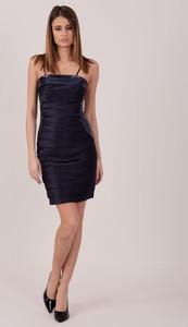 Sukienka Sheandher.pl mini gorsetowa z okrągłym dekoltem