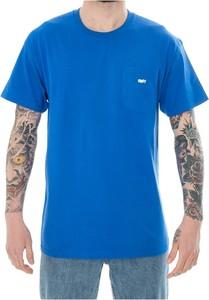 Niebieski t-shirt Obey w stylu casual z bawełny