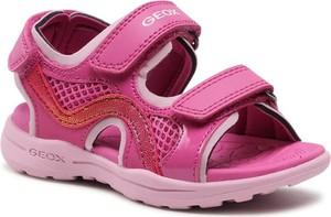 Różowe buty dziecięce letnie Geox dla dziewczynek