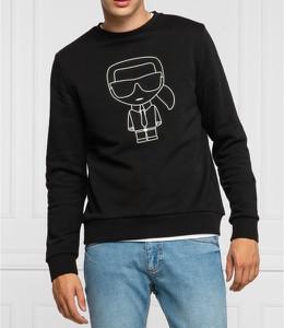 Czarna bluza Karl Lagerfeld z bawełny w młodzieżowym stylu