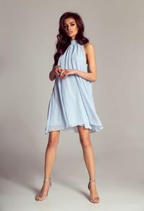 Niebieska sukienka Ivon mini bez rękawów