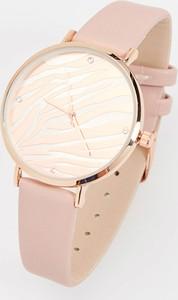 Mohito - Zegarek na pasku z imitacji skóry - Różowy