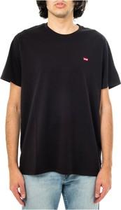 Czarny t-shirt Levis w stylu casual z bawełny z krótkim rękawem
