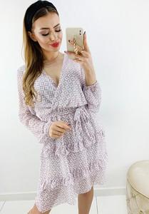 Sukienka Novvi.pl z długim rękawem