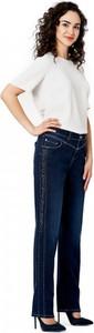 Niebieskie jeansy POTIS & VERSO z tkaniny w stylu casual