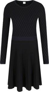 Czarna sukienka BOSS Casual w stylu casual mini z długim rękawem