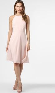 Różowa sukienka Esprit z okrągłym dekoltem bez rękawów