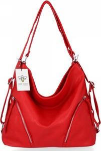 Czerwona torebka Bee Bag w stylu glamour