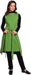 Sukienka Be z długim rękawem z golfem z dzianiny
