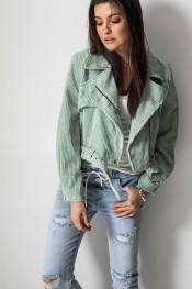 Niebieska kurtka Fashion Manufacturer ze sztruksu w street stylu